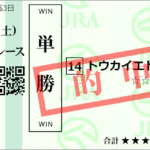 日曜中山1R 3歳未勝利 予想 ~3連複24.8倍的中!~