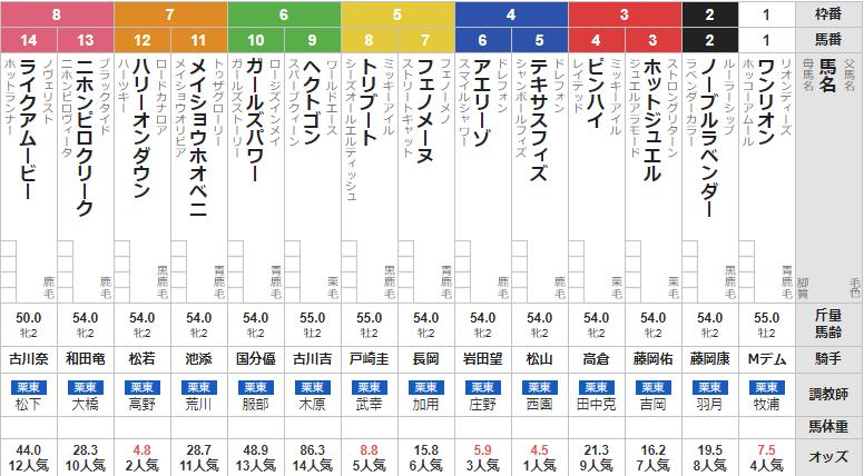 日曜阪神4R メイクデビュー阪神 予想