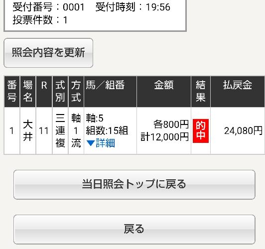 木曜大井11R レディスプレリュード 予想